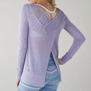 Lululemon Sunset Savasana Pullover II Lilac sz 6